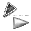 10mm Flat PLAIN TRIANGLE slider ANT SILVER - per 10 pieces