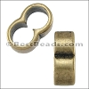 4mm round DOUBLE slider ANT BRASS - per 10 pieces