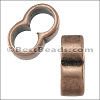 4mm round DOUBLE slider ANT COPPER - per 10 pieces