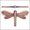 2mm round DRAGONFLY slider ANT COPPER - per 10 pieces
