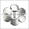 5mm flat FLOWER CINCH slider ANT SILVER - per 10 pieces