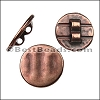 2mm round TEXTURED CIRCLE slider ANT COPPER - per 10 pieces