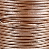 1.5mm round Indian leather - musk METALLIC - per 25m SPOOL