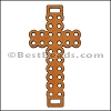 Laser Cut Leather Cross TOBACCO - per 10 pieces