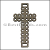 Laser Cut Leather Cross PUTTY - per 10 pieces