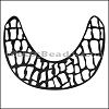 LASER CUT Leather JEWELRY COMPONENT Style 1 BLACK - per piece