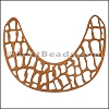 LASER CUT Leather JEWELRY COMPONENT Style 1 TOBACCO - per piece