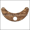 LASER CUT Leather JEWELRY COMPONENT Style 2 NATURAL - per piece