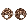 LASER CUT Leather JEWELRY COMPONENT Style 5 NATURAL - per pair