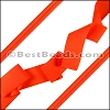 Lycra Ribbon NEON ORANGE - per 10m SPOOL