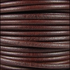 3mm Round Mediterranean Leather BROWN - per 20m SPOOL