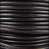 3mm Round Mediterranean Leather DARK BROWN - per 20m SPOOL