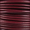 3mm Round Mediterranean Leather RED-VIOLET - per 20m SPOOL