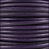 3mm Round Mediterranean Leather PURPLE - per 20m SPOOL