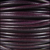 3mm Round Mediterranean Leather PLUM - per 20m SPOOL