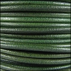 3mm Round Mediterranean Leather GREEN - per 20m SPOOL
