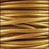 3mm Round Mediterranean Leather GOLD - per 20m SPOOL