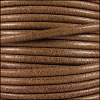 3mm Round Mediterranean Leather TAUPE - per 20m SPOOL
