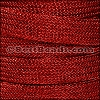 10mm Metal Knit Cord RED - per 3 yard spool