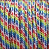 2.5mm variegated parachute cord red/yellow/turquoise/purple - per SPOOL