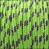 2.5mm variegated parachute cord neon green/purple - per SPOOL