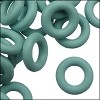 7.25mm rubber o-rings per 10 pieces SAGE GREEN