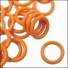 12mm rubber o-rings per 10 pieces TANGERINE
