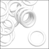 10mm rubber o-rings per 10 pieces WHITE