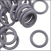 12mm rubber o-rings per 10 pieces CHARCOAL