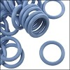 12mm rubber o-rings per 10 pieces ICE BLUE