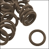12mm rubber o-rings per 10 pieces MUD BROWN