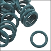 12mm rubber o-rings per 10 pieces TEAL GREEN
