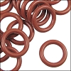 12mm rubber o-rings per 10 pieces DARK ROSE