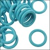 12mm rubber o-rings per 10 pieces SKY BLUE