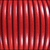 5mm Round Premier Leather RED - per 10 feet