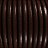 5mm Round Premier Leather DARK BROWN - per 10 feet