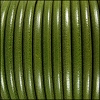 5mm Round Premier Leather OLIVE GREEN - per 10 feet