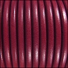 5mm Round Premier Leather RUBY - per 10 feet