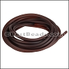 3mm Round PVC cord BROWN - per 2 meters