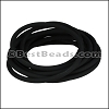 4mm Round PVC cord BLACK - per 2 meters