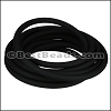 5mm Round PVC cord BLACK - per 2 meters
