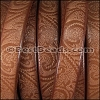 Regaliz® Dakota PAISLEY leather CHESTNUT - per 1 meter