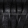 Regaliz® Dakota PAISLEY leather BLACK - per 1 meter