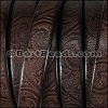 Regaliz® Dakota PAISLEY leather DARK BROWN - per 1 meter