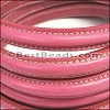 MINI Regaliz® Leather Oval STITCHED FUCHSIA - per 1 meter