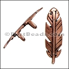 Regaliz® FEATHER spacer ANT COPPER - per 10 pieces
