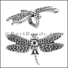 Regaliz® DRAGONFLY spacer ANT. SILVER - per 10 pieces