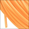rubber tube 2mm per FOOT LIGHT ORANGE