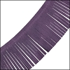 Tassel Fringe Leather VIOLET - per 1 foot