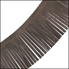 Tassel Fringe Leather DARK BROWN - per 1 foot
